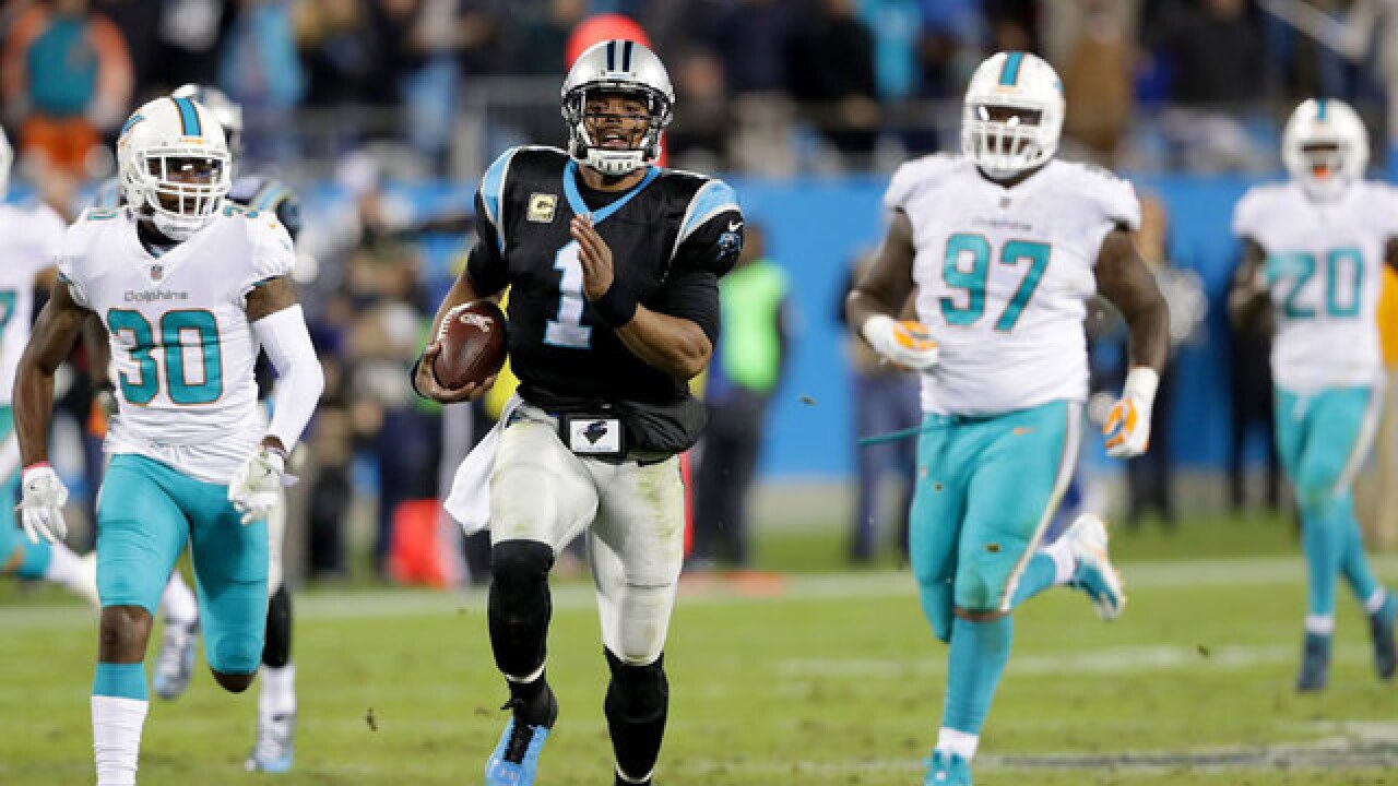 Carolina Panthers hammer Miami Dolphins 45-21