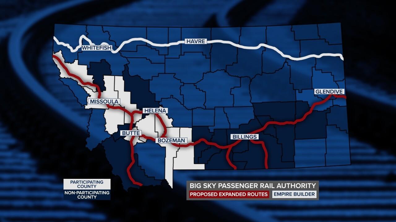 Big Sky Passenger Rail Map