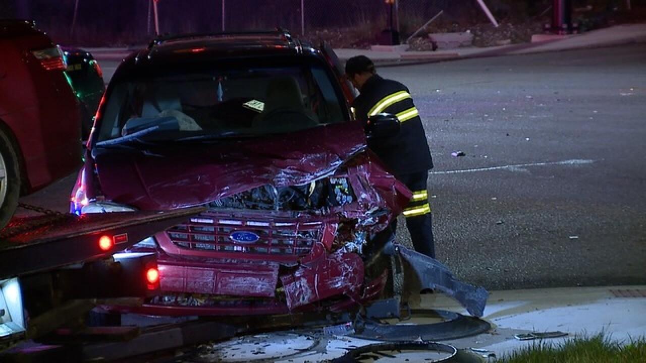 Man crashes into car, violates protection order
