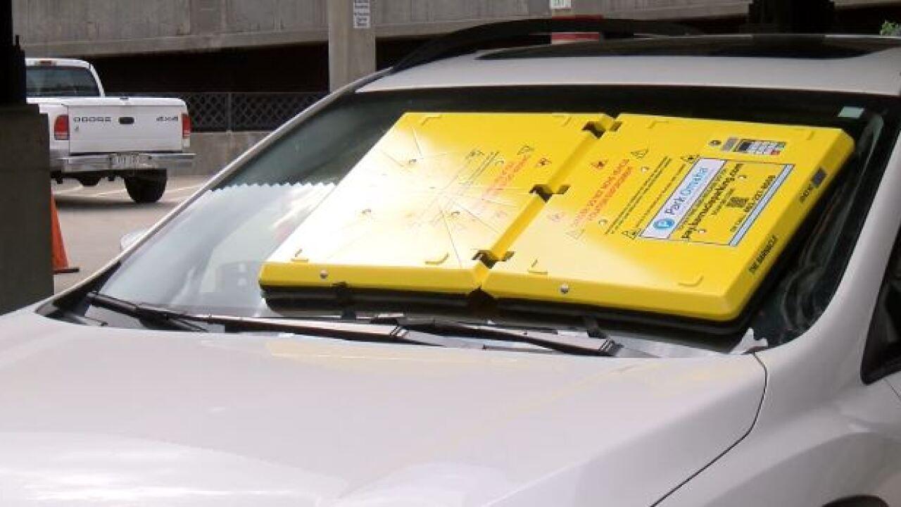 parking window shield barnacle omaha park car vehicle