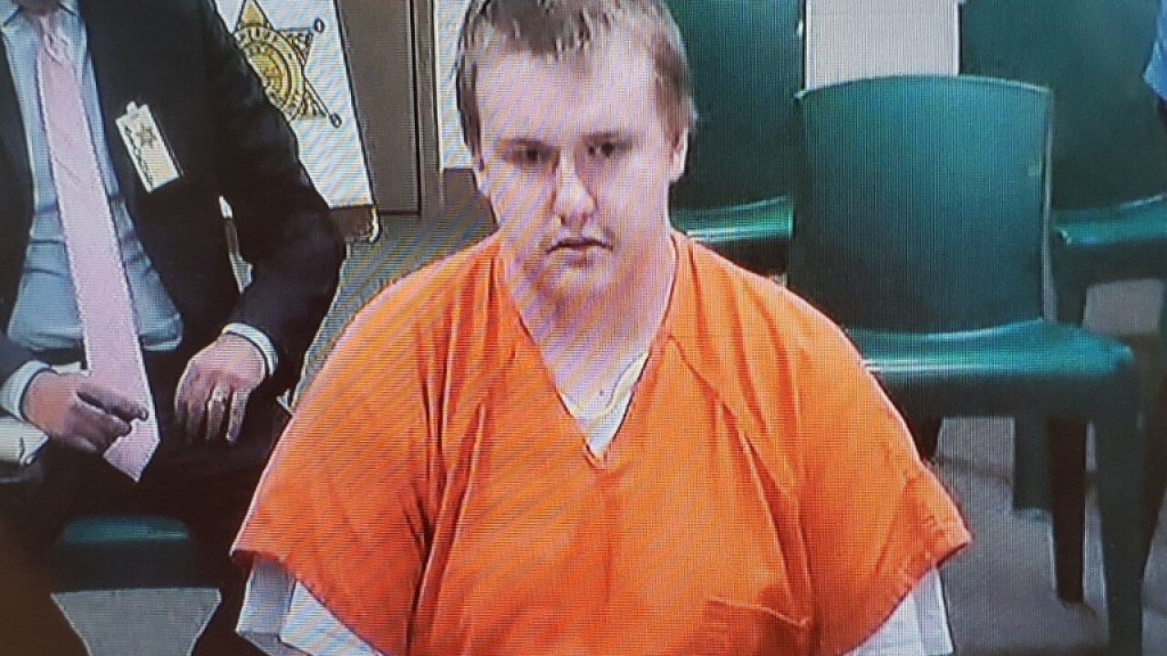 Vincent Garbe appearing in Gallatin County Justice Court on 8.2.19. (MTN News photo)