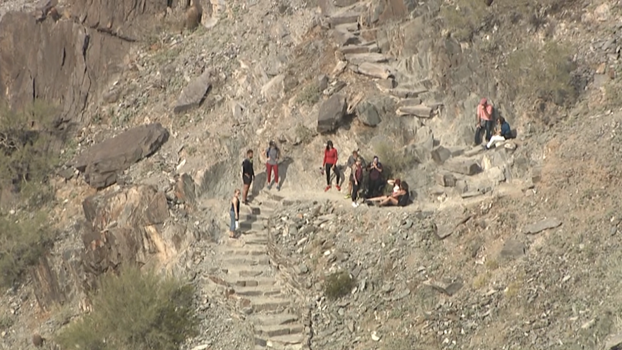 Mountain rescue 12/3/19 FD: Mother and toddler injured on Piestewa Peak