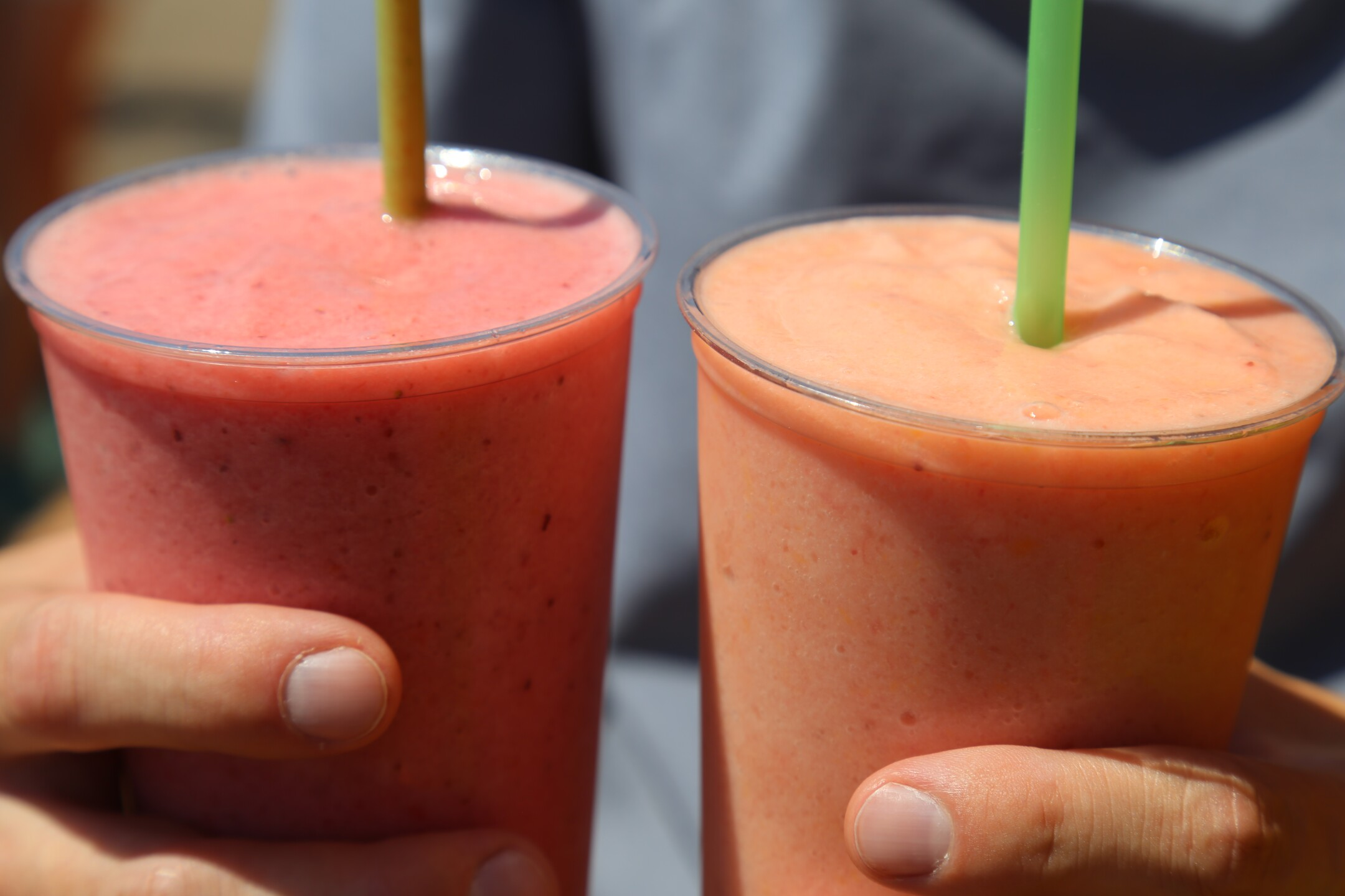 Very Berry and Orange Sunrise Smoothies