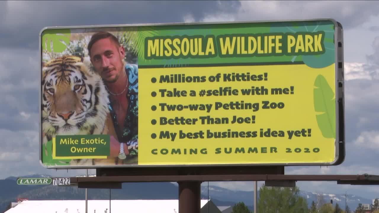 Missoula man puts up prank 'Mike Exotic' billboard