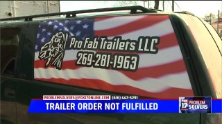 Trailer order unfulfilled after a year, man fights for refund