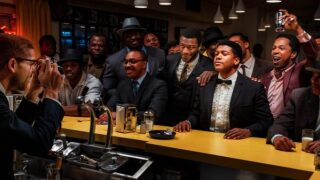 Kingsley Ben-Adair plays civil rights leader Malcolm X, Eli Goree is Clay -- who would shortly after change is name to Muhammad Ali -- Leslie Odom Jr. plays singer Sam Cooke and Aldis Hodge rounds out the crew as football legend Jim Brown.