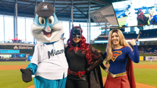 Batwoman, Supergirl Soar into Marlins Park