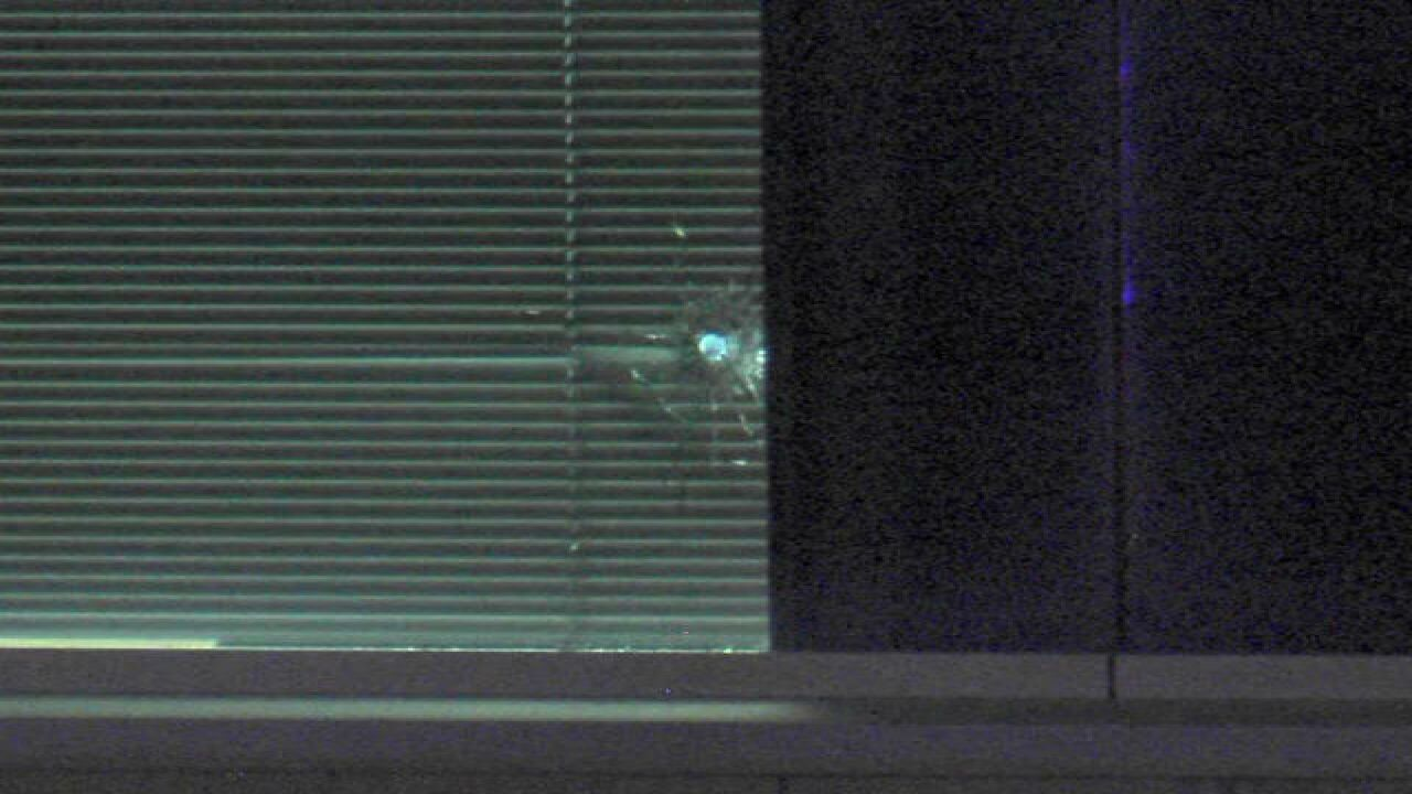 PHOTOS: Shots fired at IMPD NW HQ leaves damage