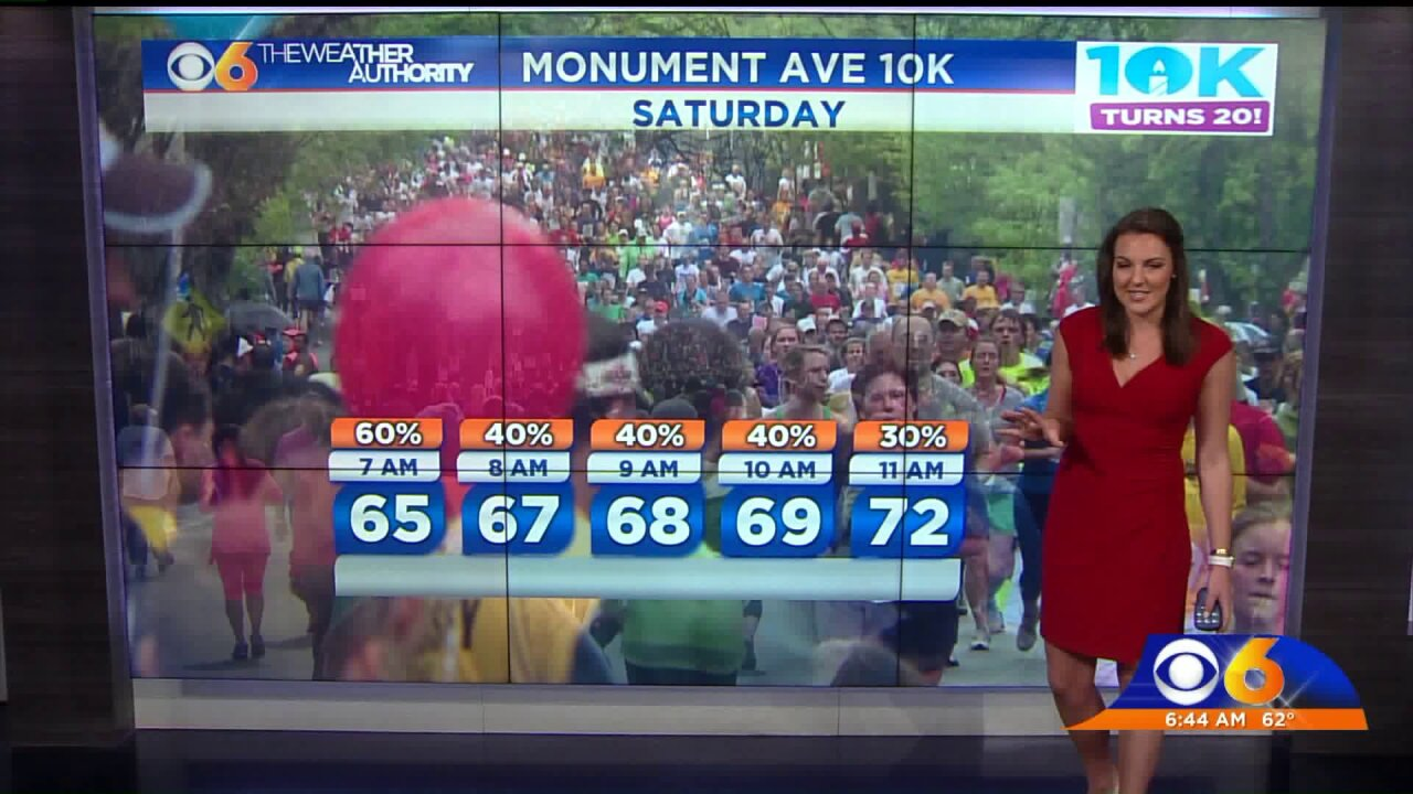 Monument Avenue 10K will start on time; here's your race forecast