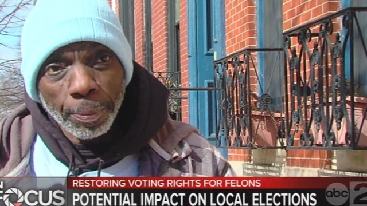 Could felon-voters change mayoral election?