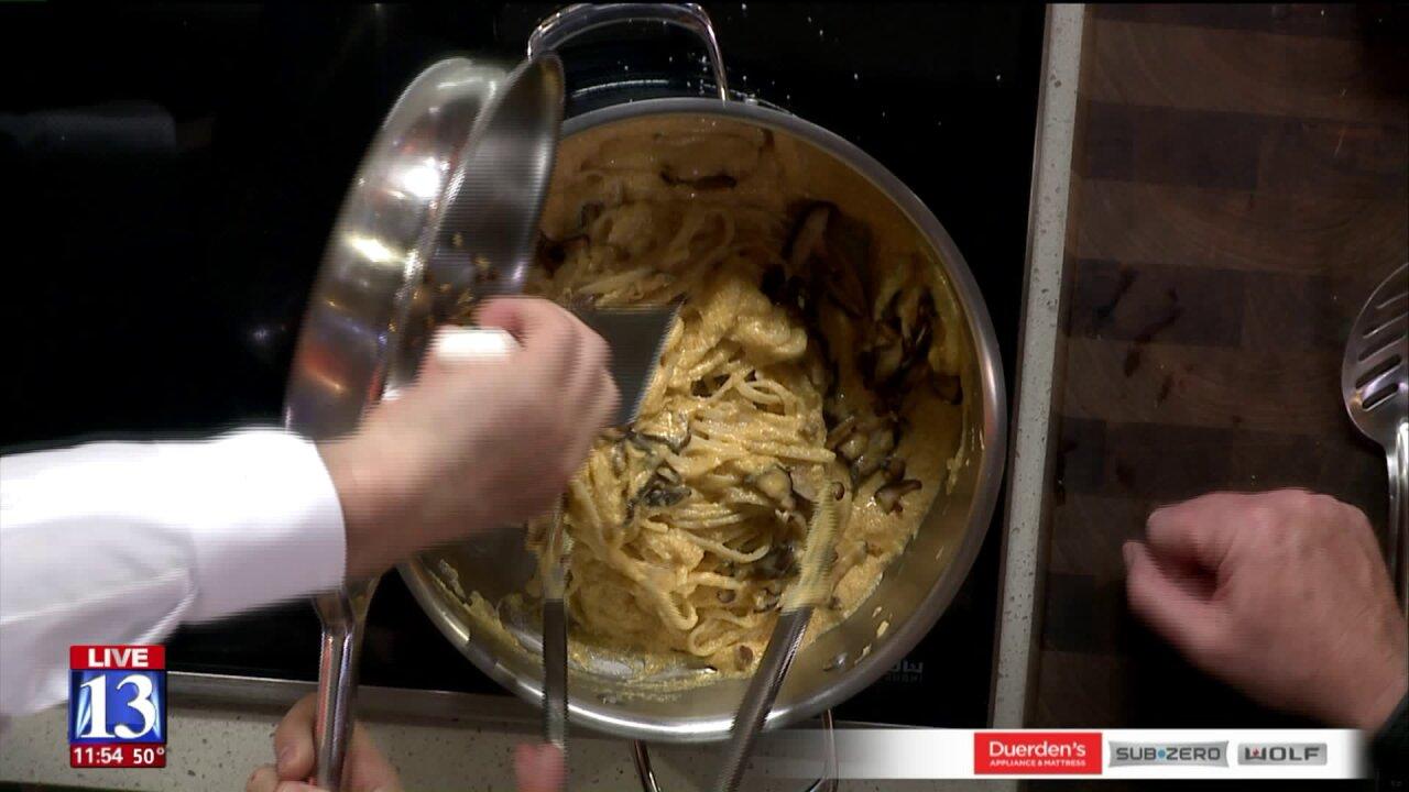 Butternut Squash Linguine with Sage and ShiitakeMushrooms