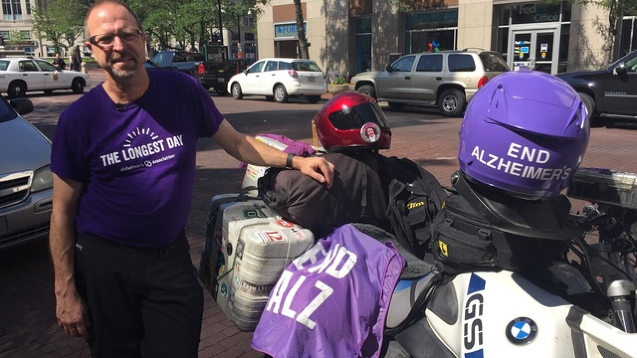 Alzheimer's advocate riding across country
