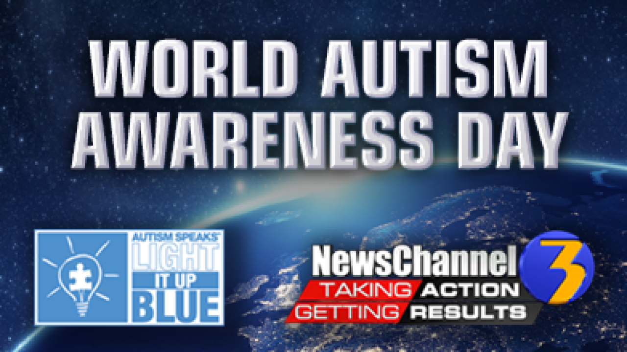 Local landmarks, buildings and people 'Light It Up Blue' for autism awareness