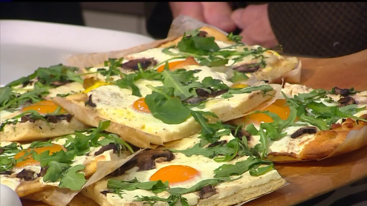 Ninja Egg & Mushroom Pizza by the Slice