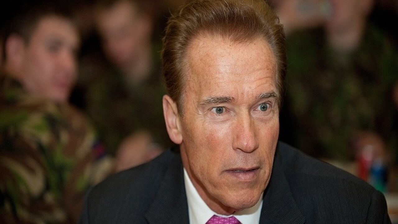 WATCH: Arnold Schwarzenegger chased by elephant