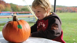Corn and Pumpkin Weekends - Pumpkin painting_Earl Linaburg.JPG