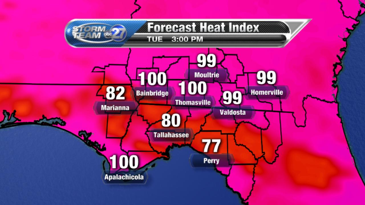 Forecast Heat Index (08/15/2017)