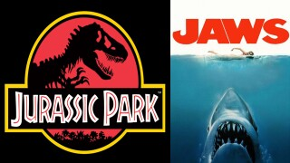 'Jurassic Park' and 'Jaws' movie posters