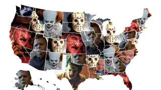Horror Villains Map by Valencia Home Theater Seating company