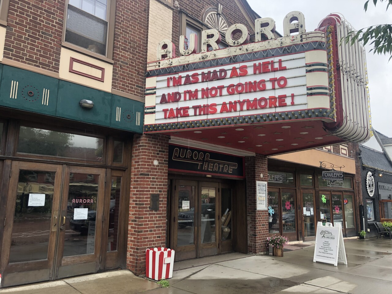 The Aurora Theater has been closed since March 16