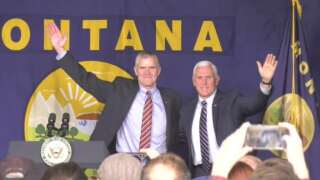 Vice President Pence draws supporters, protesters to Bozeman rally