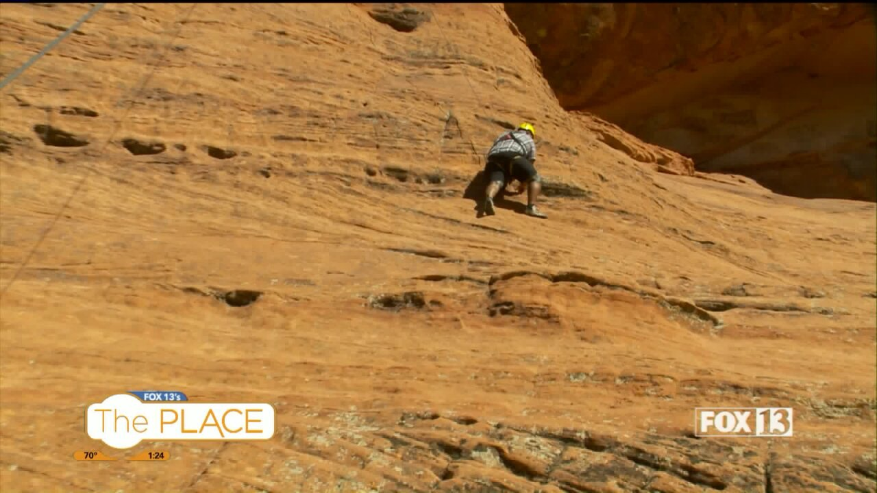 Budah tackles rock climbing and explores slot canyons in Snow Canyon State Park on his Utah adventure