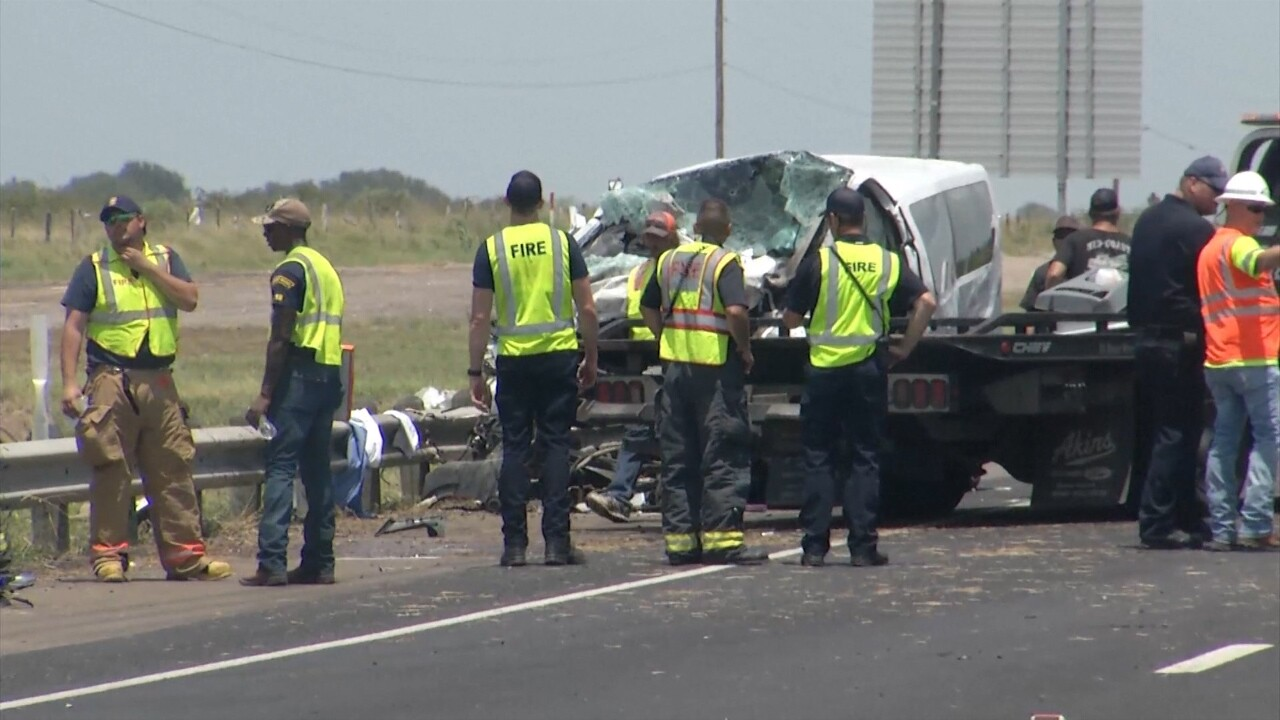 DPS reports 5 killed and 7 injured in accident northeast of Victoria