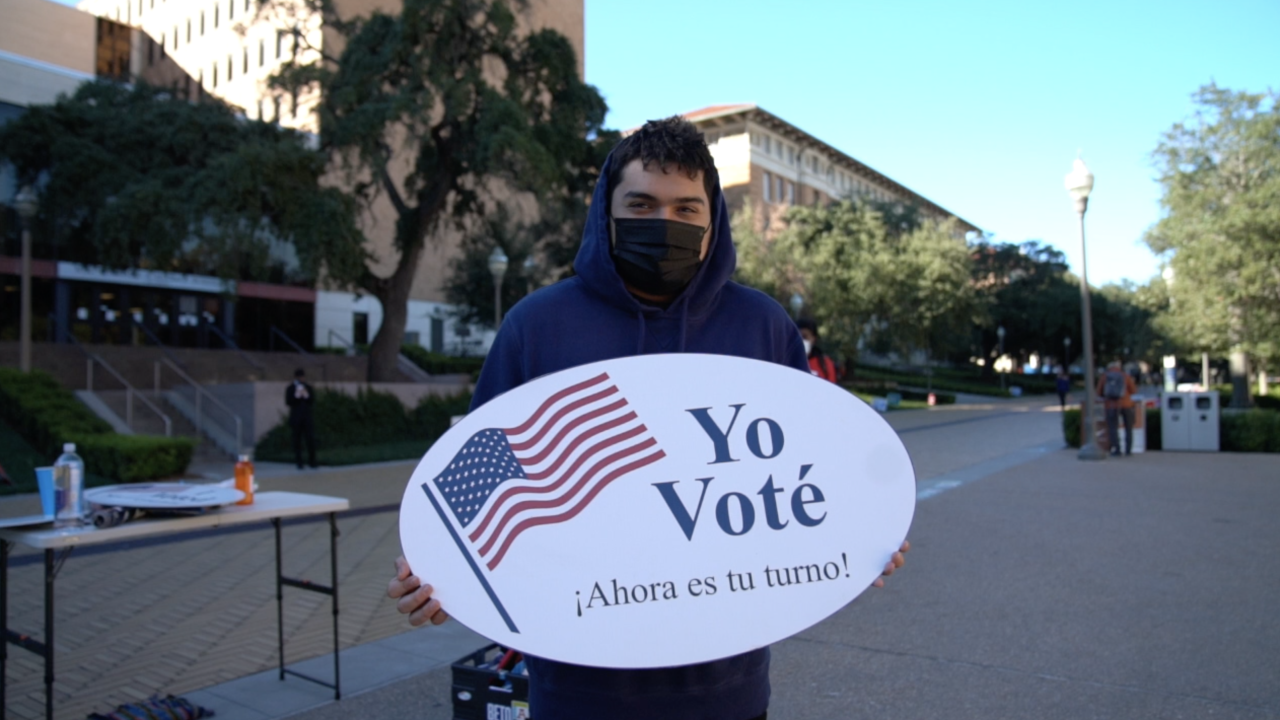 Politically active young adults help Texas county reach 97% voter registration