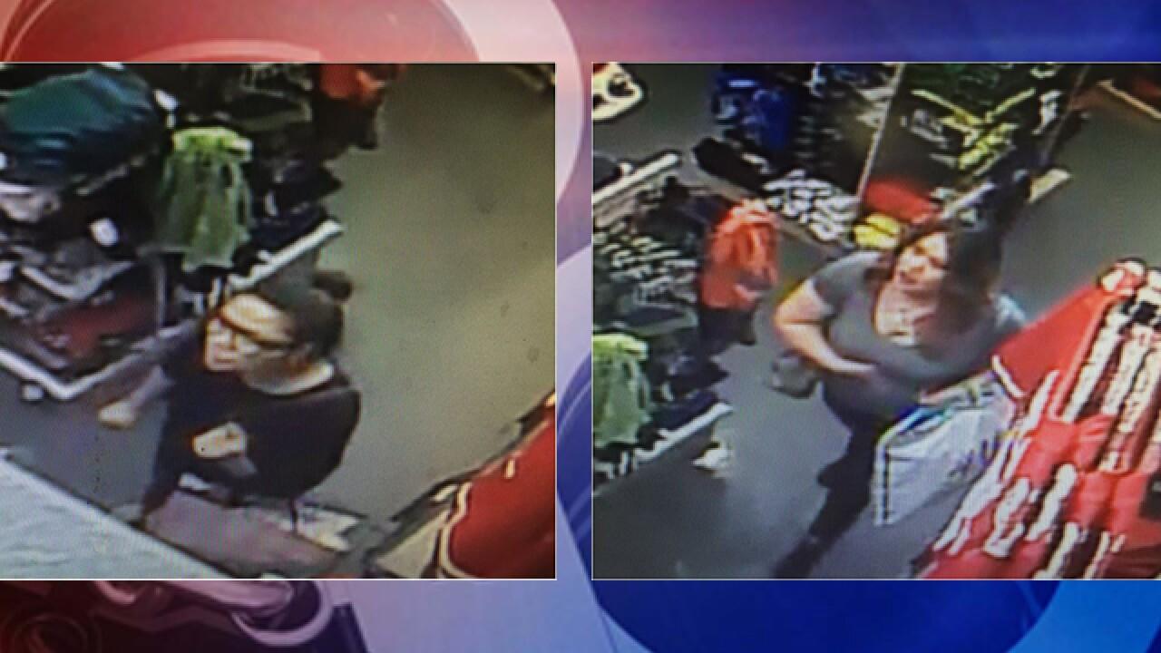 Police seeking two women accused of shoplifting