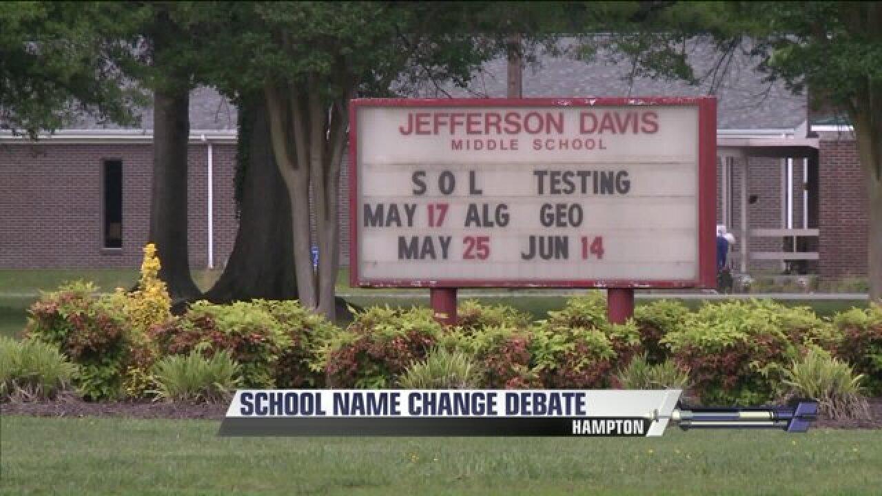 Majority of speakers against renaming two Hampton schools with Confederatenamesakes