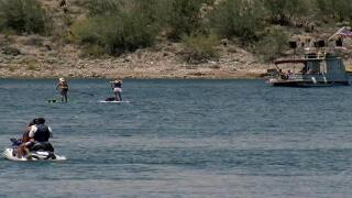 Lake Pleasant at capacity Saturday