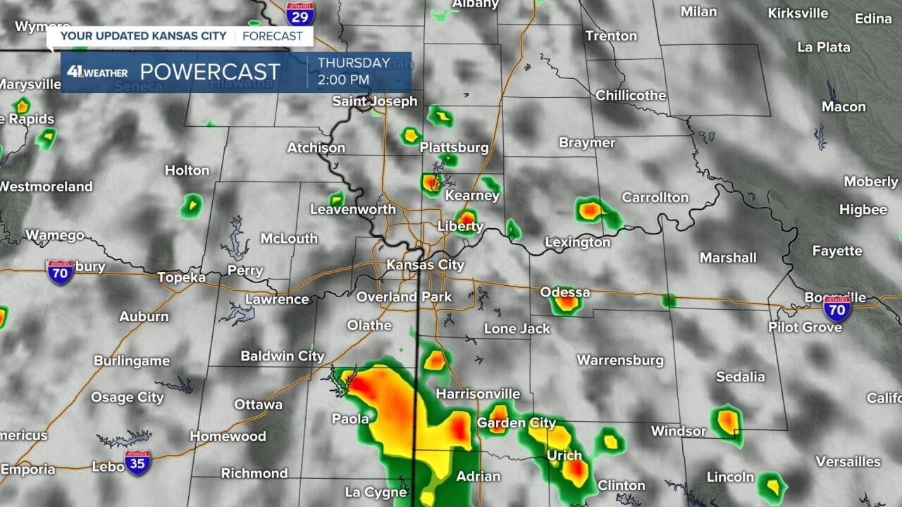 Isolated Showers & T-Storms