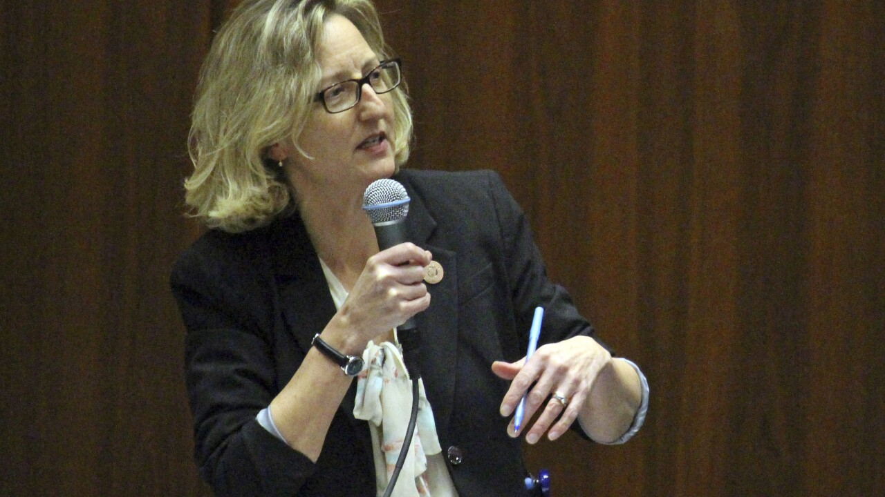 Democratic state Sen. Kirsten Engel of Tucson has resigned to focus on her campaign for the U.S. House. AP photo.