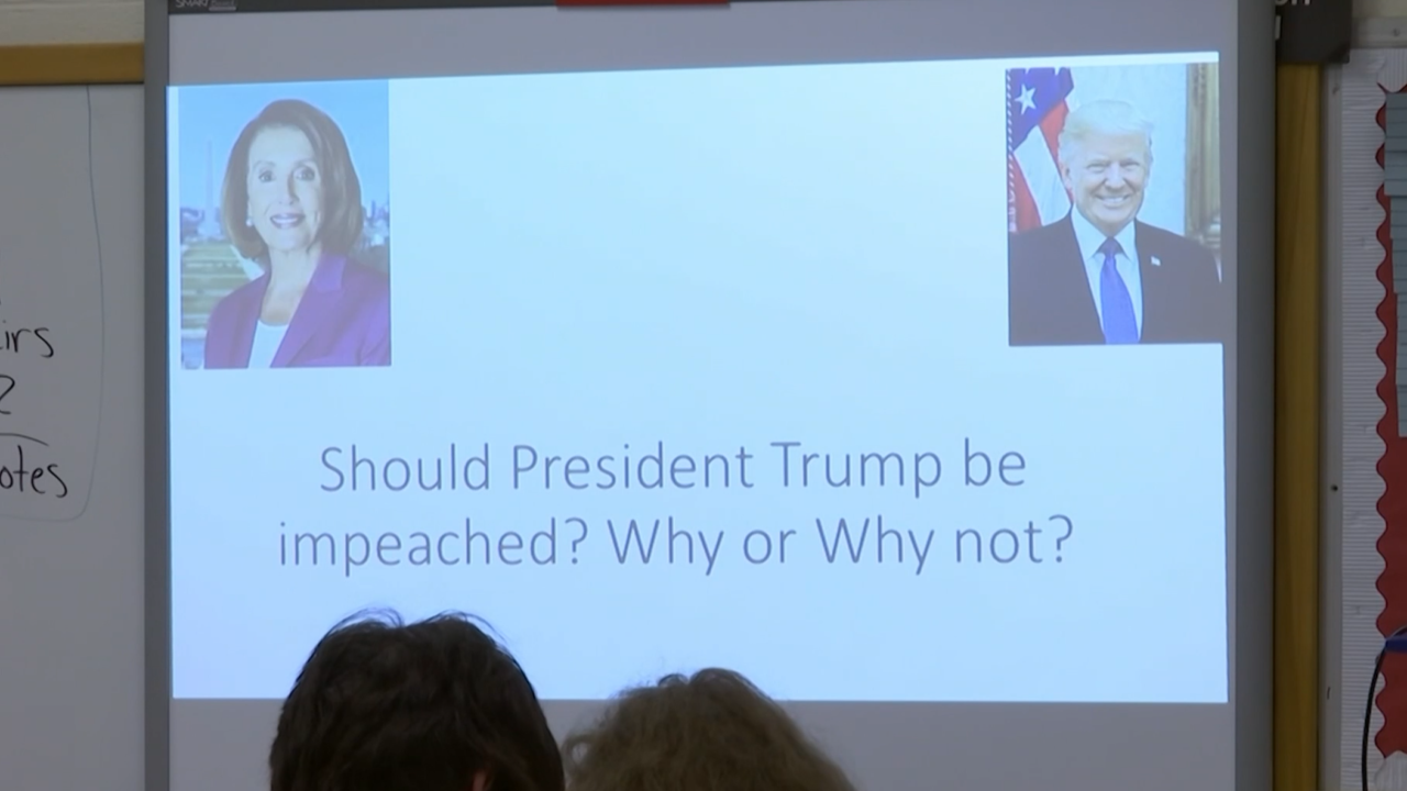 Students learn about impeachment in real time