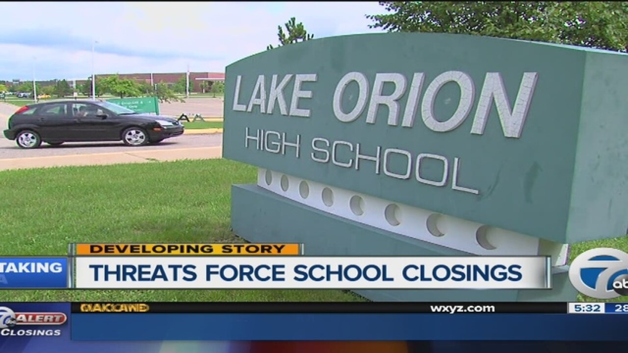 Multiple high schools targeted by online threats
