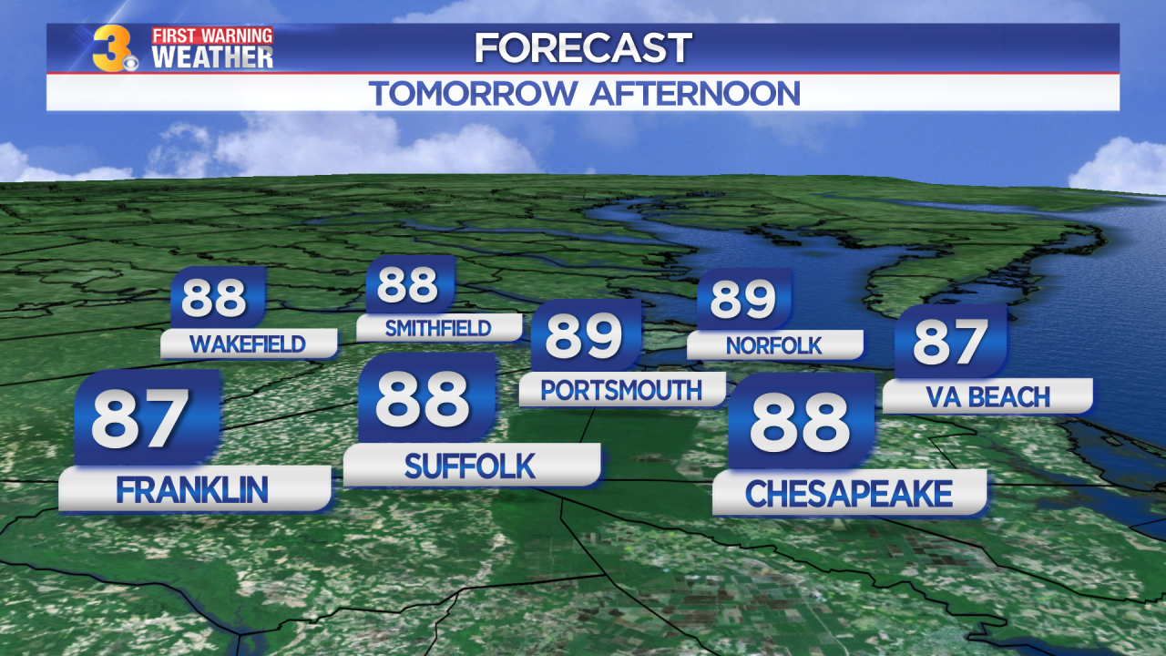 First Warning Forecast: Flirting with the 90s on Thursday