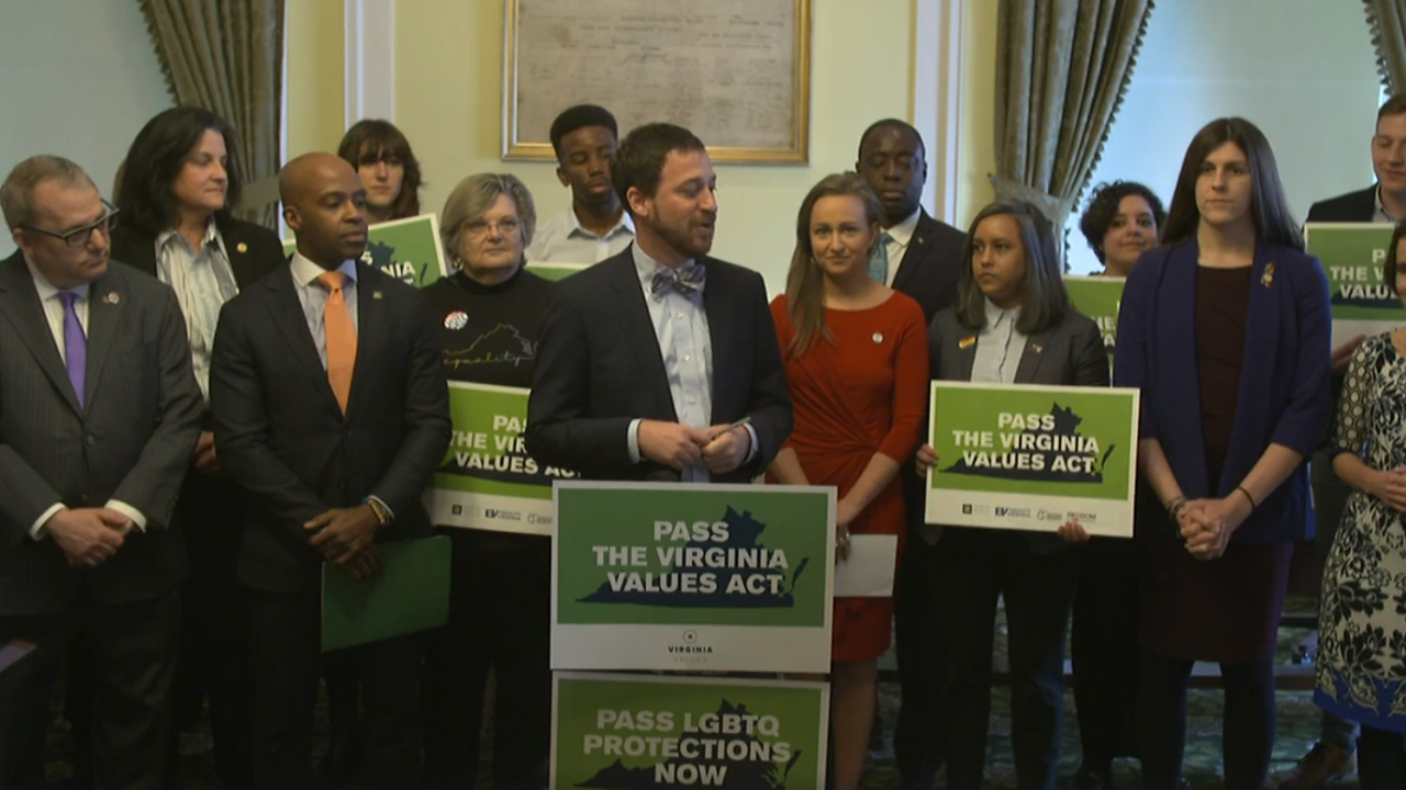 Press conference for Virginia Values Act