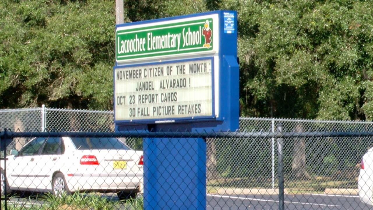 Laccoochee Elementary School sign