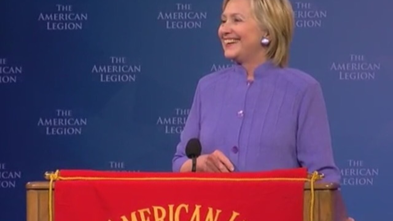 WATCH LIVE: Hillary Clinton speaks to American Legion Convention in downtown Cincinnati