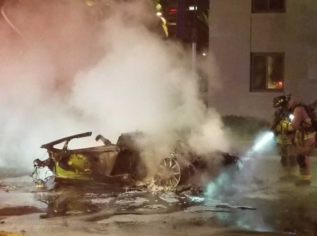 Lamborghini driver killed, debris spread on Harbor Dr. downtown