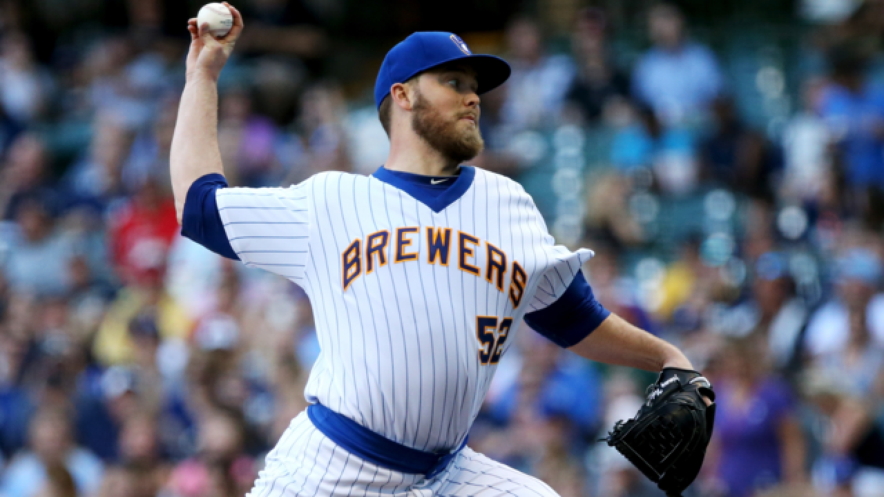 Nelson strikes out 11 in Brewers' 1-0 win over Nationals