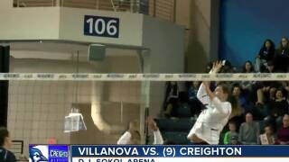 Creighton volleyball defeats Villanova
