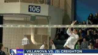 Creighton volleyball defeats Villanova
