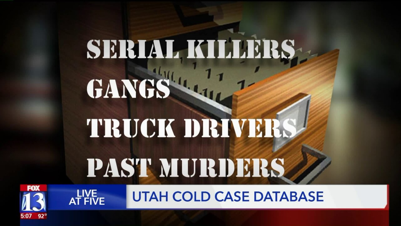 Utah's cold case database has 179 entries, hundreds left to file