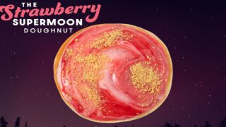 Krispy Kreme Has Strawberry Supermoon Doughnuts For A Limited Time