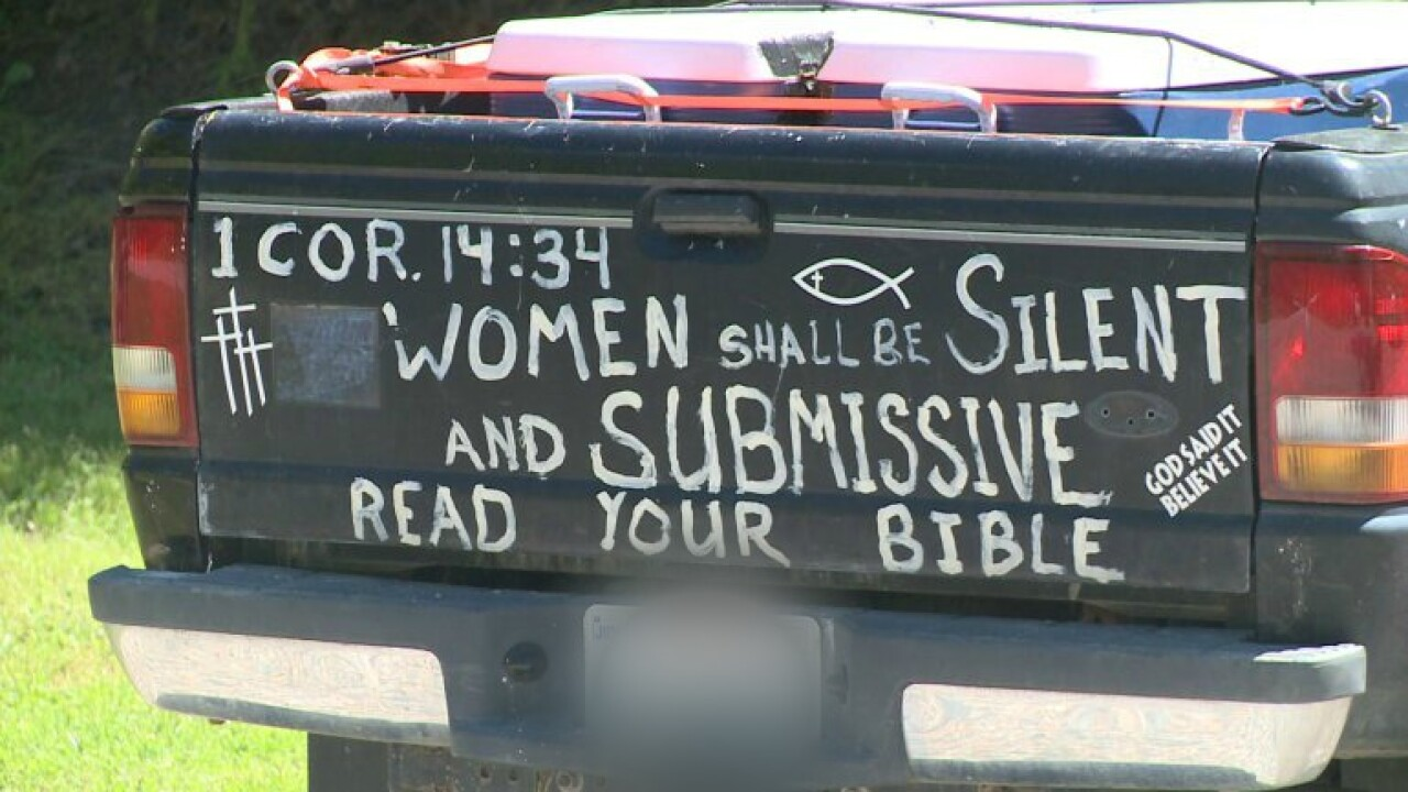 Why there is a Bible verse about silencing women on this man'struck