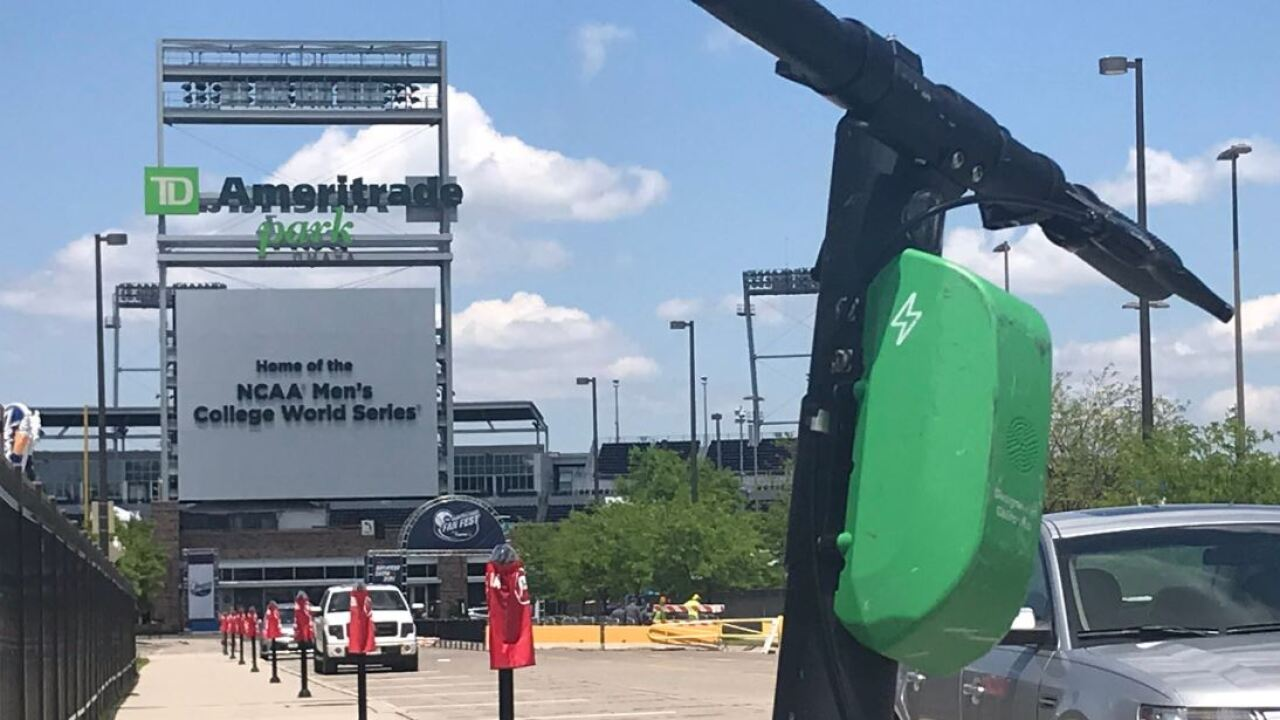 lime scooter by college world series td ameritrade park