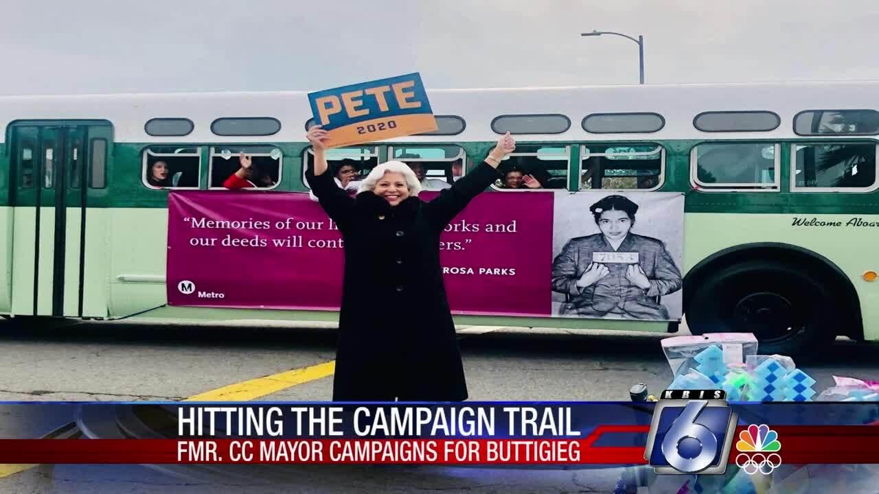 Former Corpus Christi mayor Nelda Martinez is hitting the Pete Buttigieg campaign trail