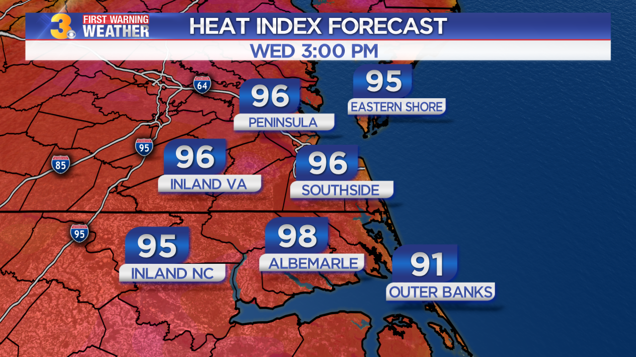 First Warning Forecast: More Heat And Humidity