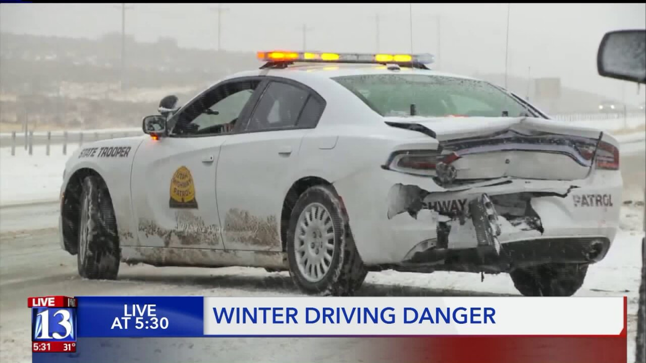 'We have families too' — UHP troopers plead for drivers to slow down and move over after 10 troopers hit Thanksgiving week
